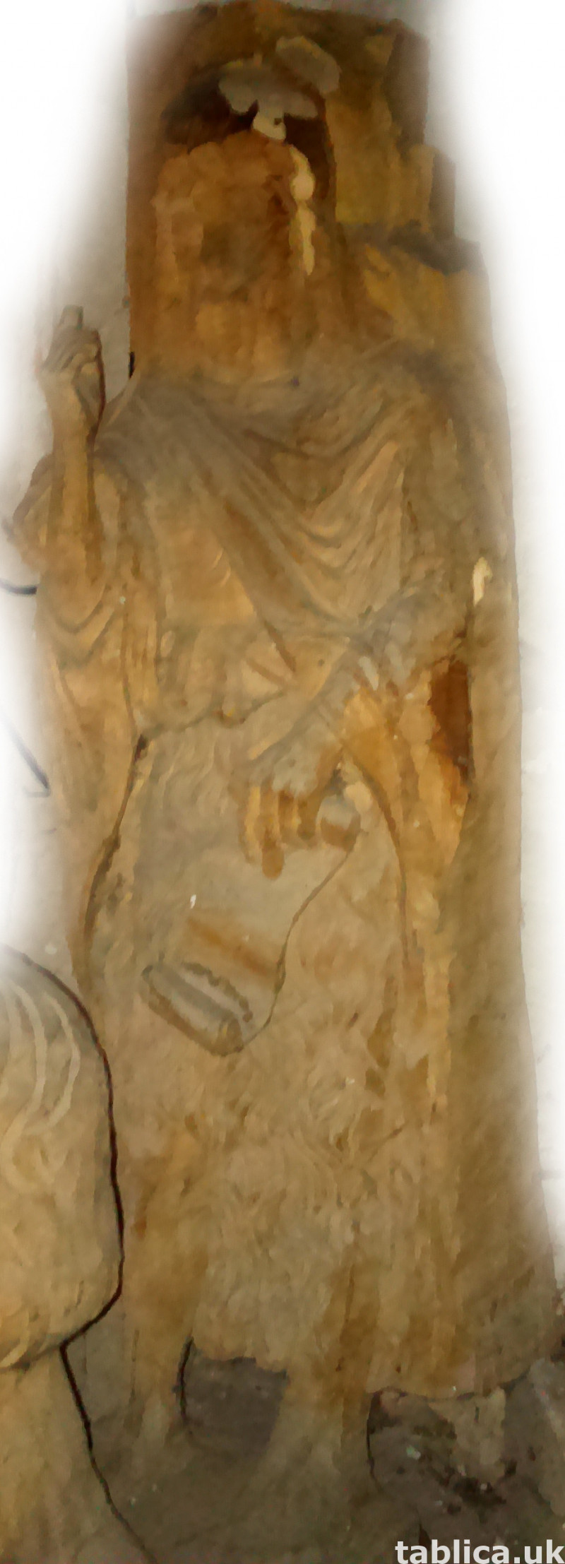 For Sale: Sculpture: Saint - Solid Wood  1