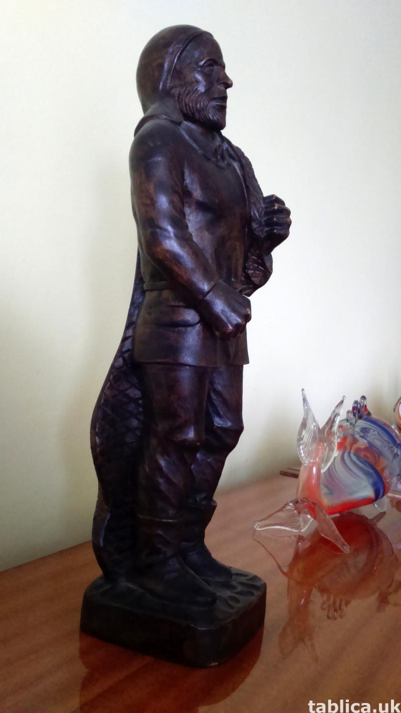 Sculpture: Fisherman - Solid Wood  1
