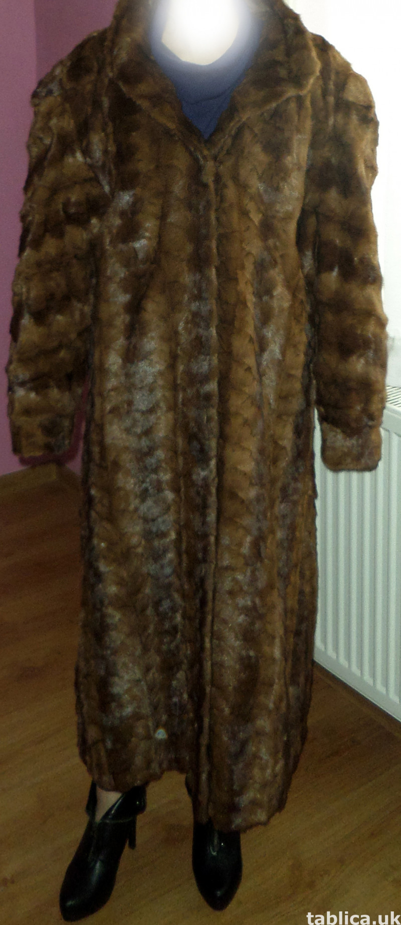 For Sale: Long Fur Coat from Mink Bellies  2