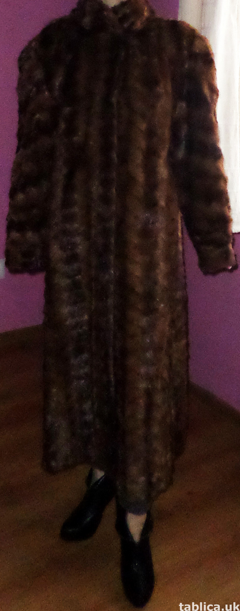 For Sale: Long Fur Coat from Mink Bellies  5