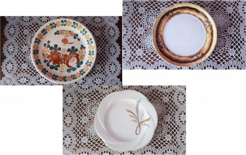3 Original Plates: Veroni, Lubiana and FAJANS WŁOCŁAWEK  0