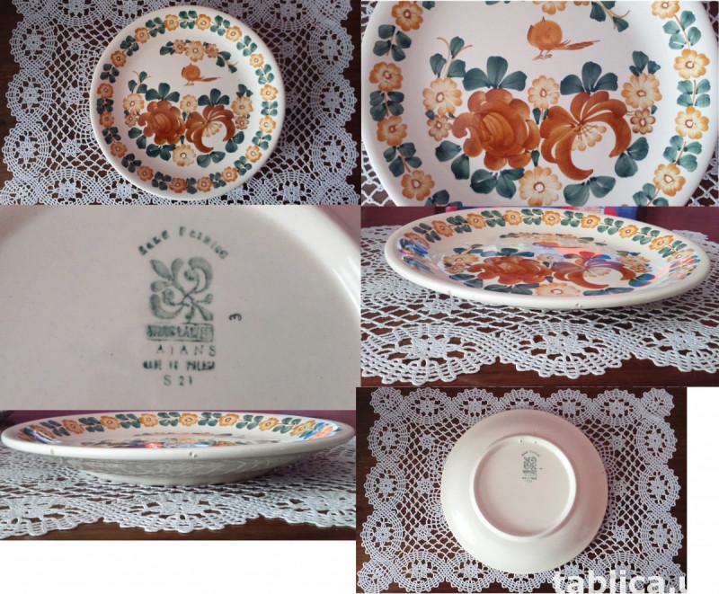 3 Original Plates: Veroni, Lubiana and FAJANS WŁOCŁAWEK  5