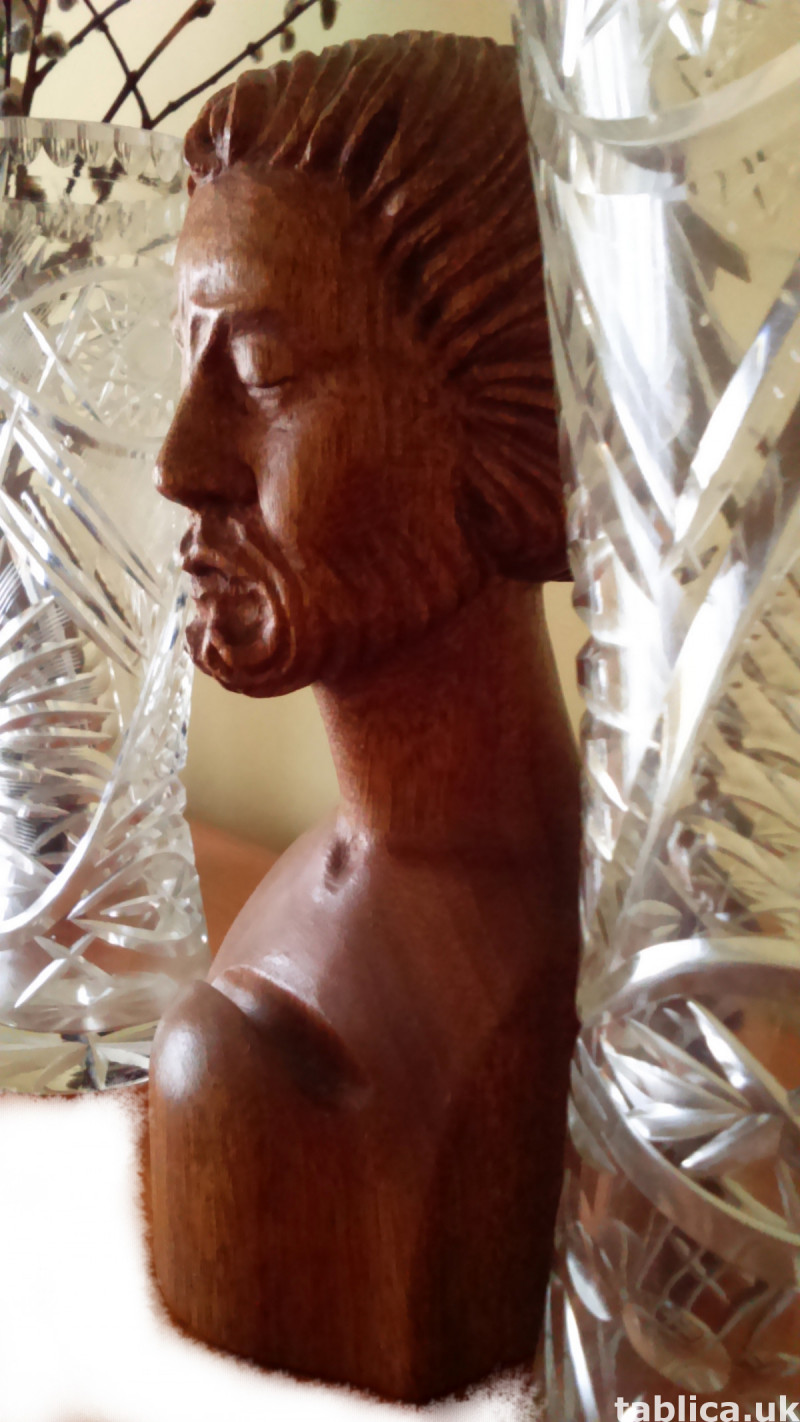 Bust: Old Man - Solid Wood !!!  1