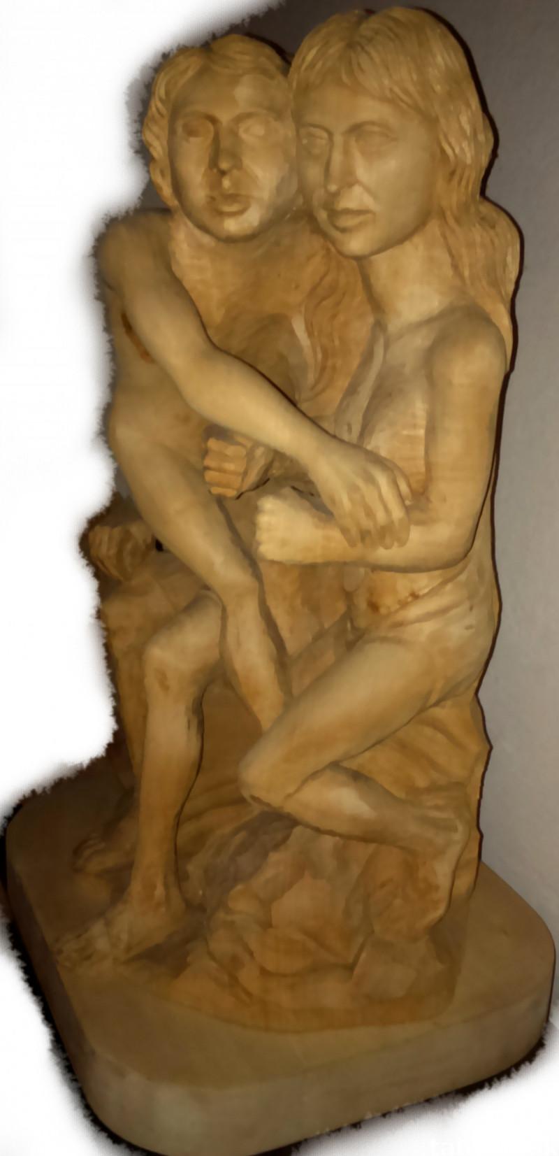 Sculpture: Three Innocents - Solid Wood !!!  2