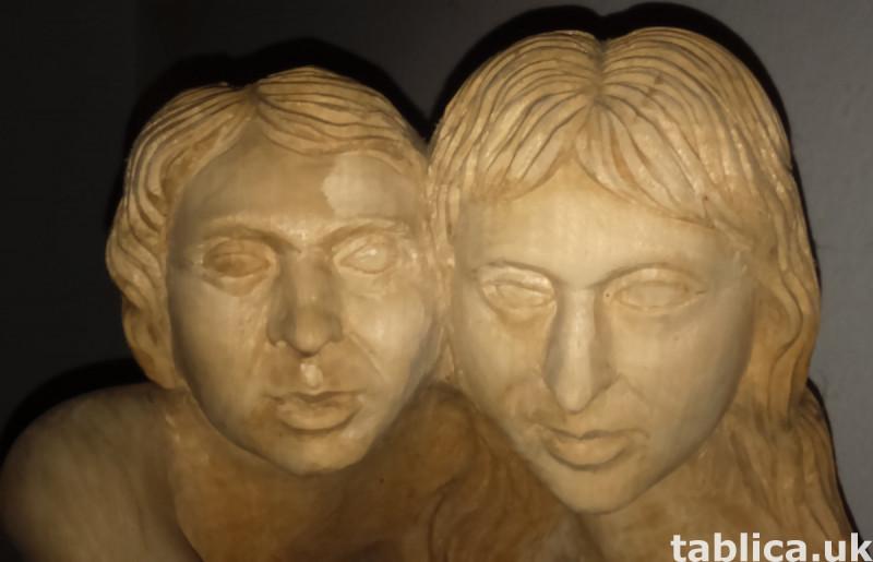 Sculpture: Three Innocents - Solid Wood !!!  3